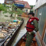 Hochwasser 2013 - Einsatz von Wolf Martin mit Zille