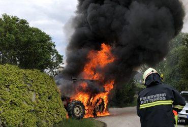 Traktorbrand in Oberstraß