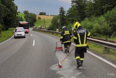Ölspur wurde durch die Feuerwehr gebunden!