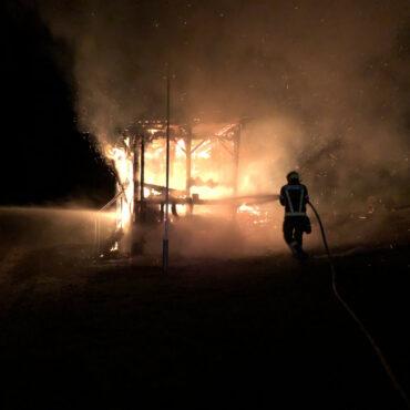 Brand eines Nebengebäudes